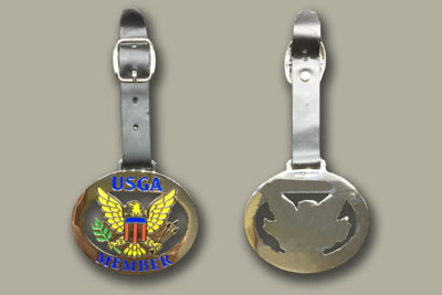 golf bag tag die casting logo