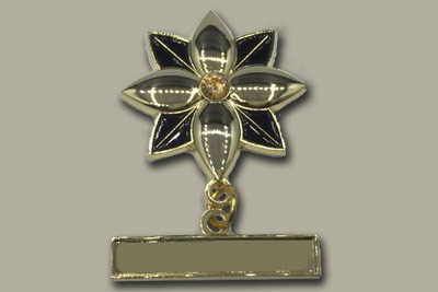 malaysia lapel pin flower ready made black gold