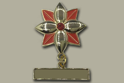 malaysia lapel pin flower ready made red